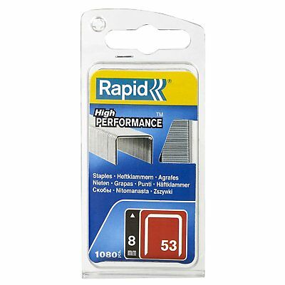 Rapid High Performance Staples, No.53, Leg Length 8 mm, 40109503 - 1080 Pieces