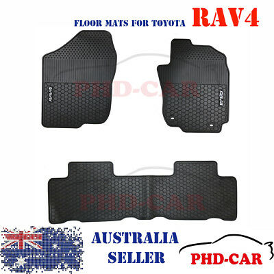 Toyota RAV4 Tailored Self-Design All Weather Rubber Car Floor Mats White