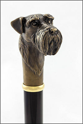 Schnauzer collectable dress cane - Bronze head, Aluminium shaft.