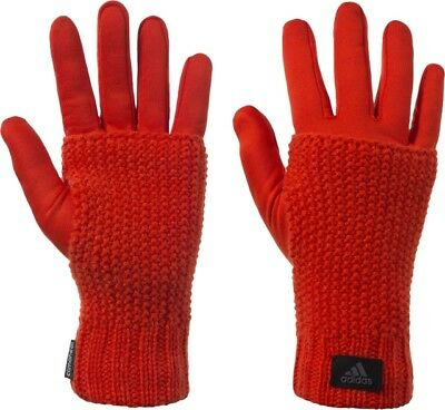 Womens Training Climaheat Red/orange Medium Gloves Ab0472,new With Tags