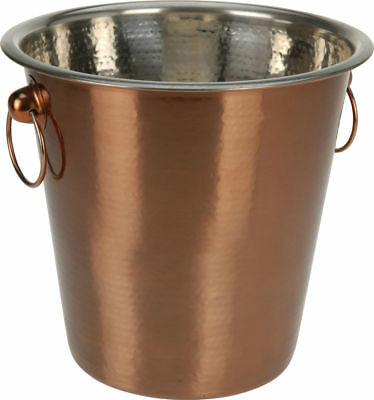 Vintage Copper Champagne Ice Bucket Stainless Steel Beer Wine Drink Cooler Party