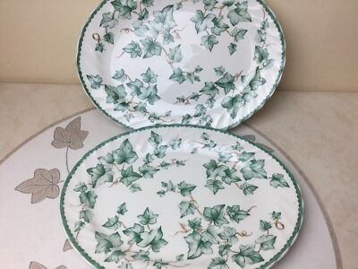 BHS Barratt's Country Vine 2 x Steak Plates Nice Condition 31cm x 24cm