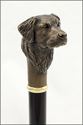Golden Retriever collectable dress cane - Bronze head, Aluminium shaft.