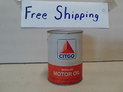 Vintage CITGO OIL CAN - FULL -NEVER BEEN OPEN == FREE SHIPPING