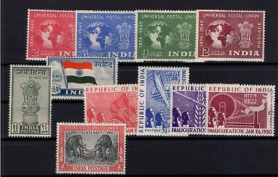 P41896/ Inde / India / Lot 1947 - 1951 Neufs ** / Mnh 99 €