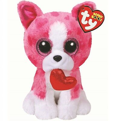 Ty Beanie Babies Boos 36864 Romeo the Valentines Dog Boo
