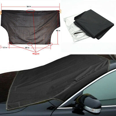 Car Auto Snow Protect Cover Magnet Windshield Ice Sun Frost Protector Side Flaps
