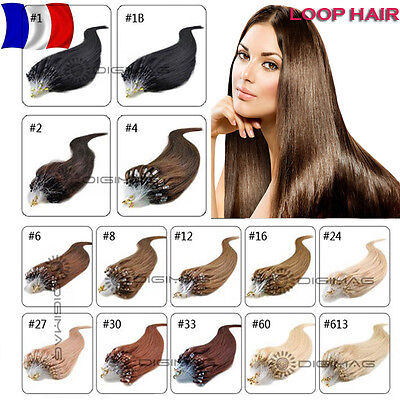 50 100 150 200 Extensions Cheveux A Froid Naturels Remy Hair 53/60Cm 0,5G/1G