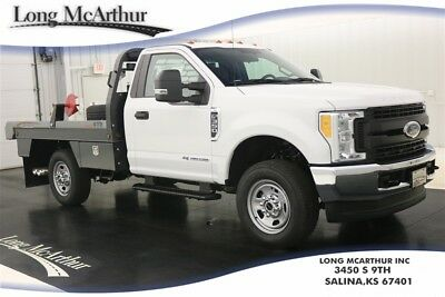 2017 Ford F-350 4WD REGULAR CAB AND CHASSIS XL 4X4 BALE BED DIESEL MSRP $63515 4WD POWERSTROKE TURBO DIESEL SUPER DUTY FARM  BALE BED TRUCK