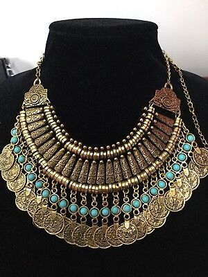 Unique Egyptian Bedouin(Tribal Style) Necklace Kirdan Hand Made In Egypt !!! WOW