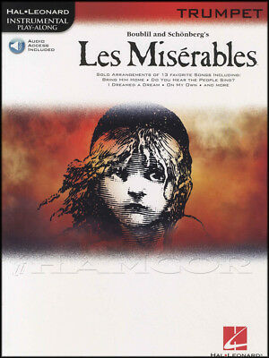 Les Miserables Instrumental Play-Along Trumpet Sheet Music Book with Audio
