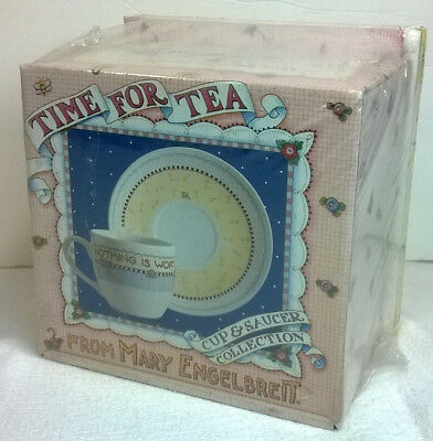 Mary Engelbreit Time For Tea Book, Cup & Saucer Set Collection New Sealed