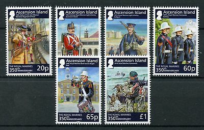 Ascension Island 2014 MNH Royal Marines 350th 6v Gallipoli Military Stamps