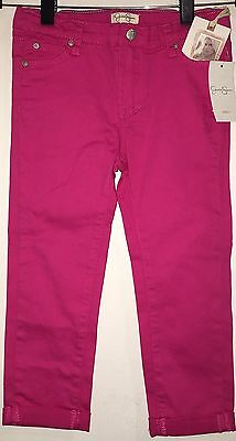 Jessica Simpson Youth Girls Pink Twill Pant Toddler Stretchy Jeans Bottoms