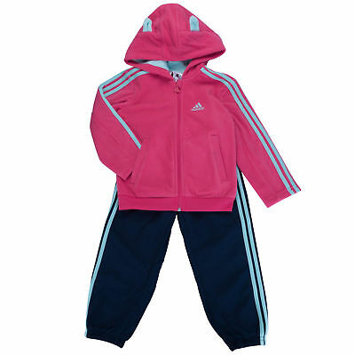 Adidas Infant Girls Fun Polar Full Tracksuit Kids children Jogger Full Set