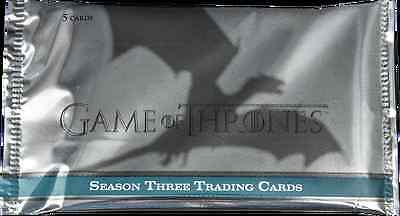 NEW Game of Thrones Season 3 (Three) SEALED Trading Card Hobby Pack