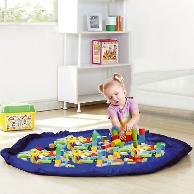 150cm Toy Storage Bag TIDY Organizer Rug For Legos Portable Kid 2 in 1 Play Mat