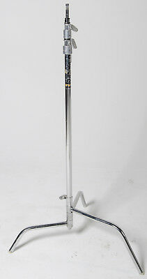 """Mathews 40"""" Chrome C-Stand with Turtle Removable base"""