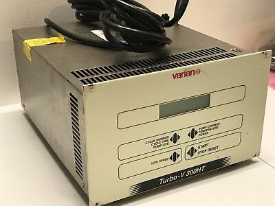 Varian Turbo-V 300HT TURBOMOLECULAR Vacuum Pump Controller w/CABLE *WORKING*