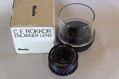 Boxed Minolta Lens C.e. Rokkor 1:56 F=80Mm Enlarger Lens
