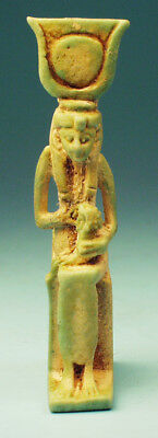 Egyptian Faience Isis Nursing Horus  - Ancient Art & Antiquities