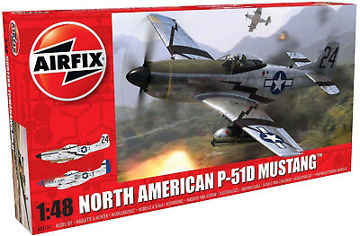 Airfix North American P51-D Mustang 1:48 Scale Plastic Model Plane A05131