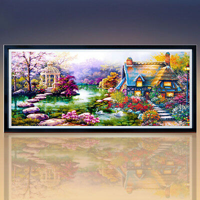 Gn- Large 5D Diamond Embroidery Kit Landscape Diamond Painting Home Room Decor G