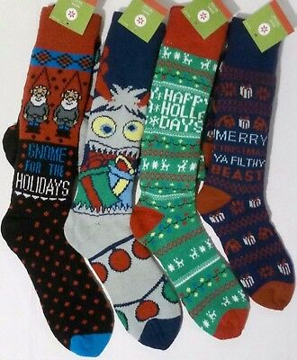 Kids Christmas Socks Happy Holla Days Gnome for the Holidays Abominable Snowman