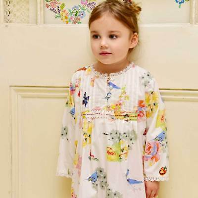 Girls Cotton Nightie Nightdress Vintage Secret Garden - Powell Craft  Age 1-12