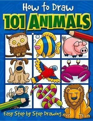 NEW How to Draw 101 Animals By Dan Green Paperback Free Shipping