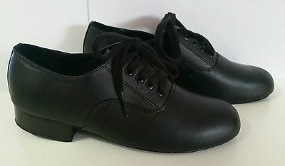 HALF PRICE! Paul Wright Boys Ballroom Shoes Black Size 13 BRAND NEW!