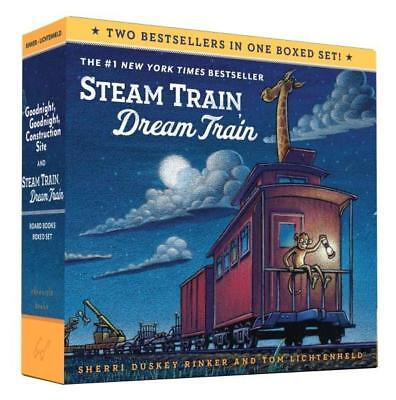 NEW Goodnight, Goodnight, Construction Site and Steam Train, Dream Train Boxed S