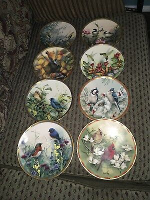 Lenox Nature's Collage Plate Collection Complete Set of 8