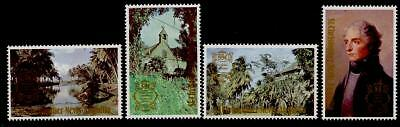 St Christopher Nevis Anguilla 397-400 MNH Lord Nelson, Architecture, Trees