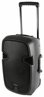 """12 """" ACTIVE PORTABLE PA SPEAKER RECHARGEABLE WITH 2 x WIRELESS MIC AND REMOTE"""