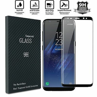 2X Samsung Galaxy S9 S8 PLUS NOTE 8 Screen Protector Tempered Glass Curved Glass