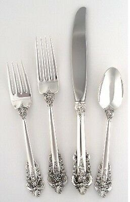 Sterling Silver Wallace 8 Grand Baroque 4 Piece Place Settings - Free Shipping *