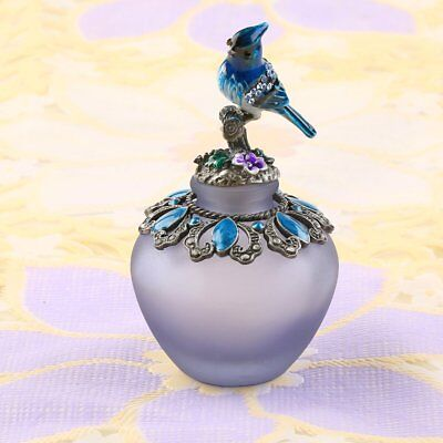 40ml Retro Perfume Refillable Bottle Vintage Metal Bird Glass Empty Container