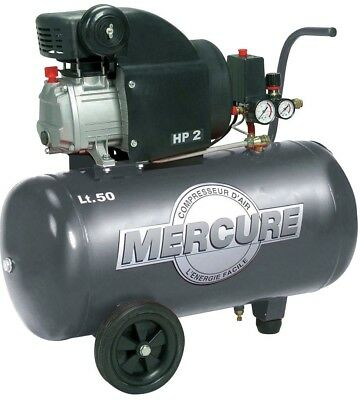 Compresseur 50 l Mercure Mecafer - 2 HP