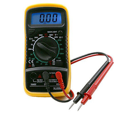 Digital Multimeter XL830L Volt Meter Ammeter Ohmmeter Tester Yellow~
