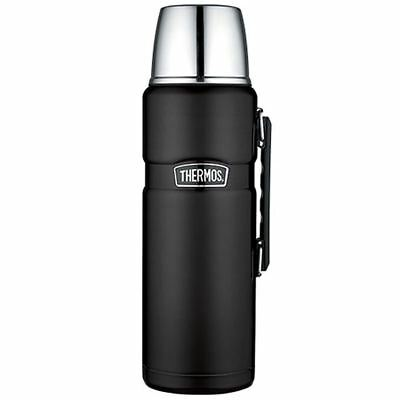 Thermos Stainless King Vacuum Insulated Beverage Bottle  Black  2L