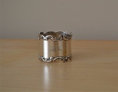 Sterling Silver Napkin Ring With Applied Scallop Borders