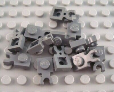 LEGO Lot of 20 Dark Bluish Gray 1x1 Plates with Vertical Clip