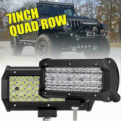 "2X 7Inch 480W Cree Led Work Light Bar SPOT Beam Offroad 4WD Jeep Truck ATV 6""5"""