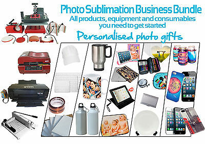8 in 1 Heat Press Sublimation Printing Business Equipment, Stock & Consumables