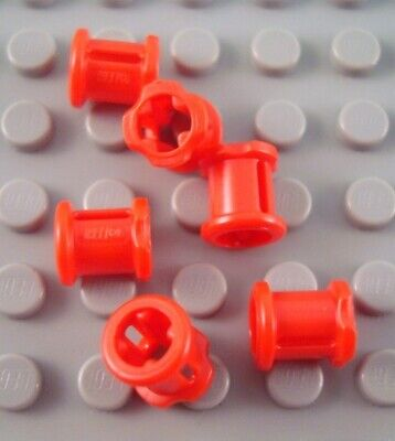 New LEGO Lot of 6 Red Technic Bush Connector Pieces