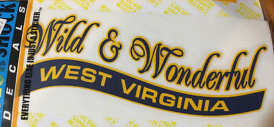 West Virginia Decal Wild & Wonderful