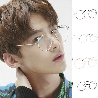 Vintage Round Glasses Men&Women Metal Frame Retro Luxury Eye wear Clear Glasses