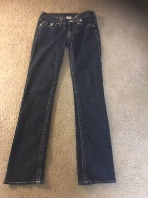 "True Religion Denim  Straight Leg Jeans Ladies Size 29, 32"" Inseam, Rise 7'' Usa"