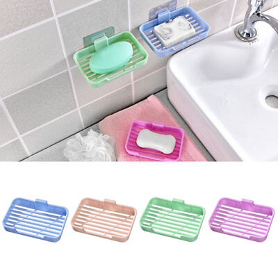 Wall Mount Soap Dish Tray Container Dispenser Box Holder Bathroom Shower Kitche#